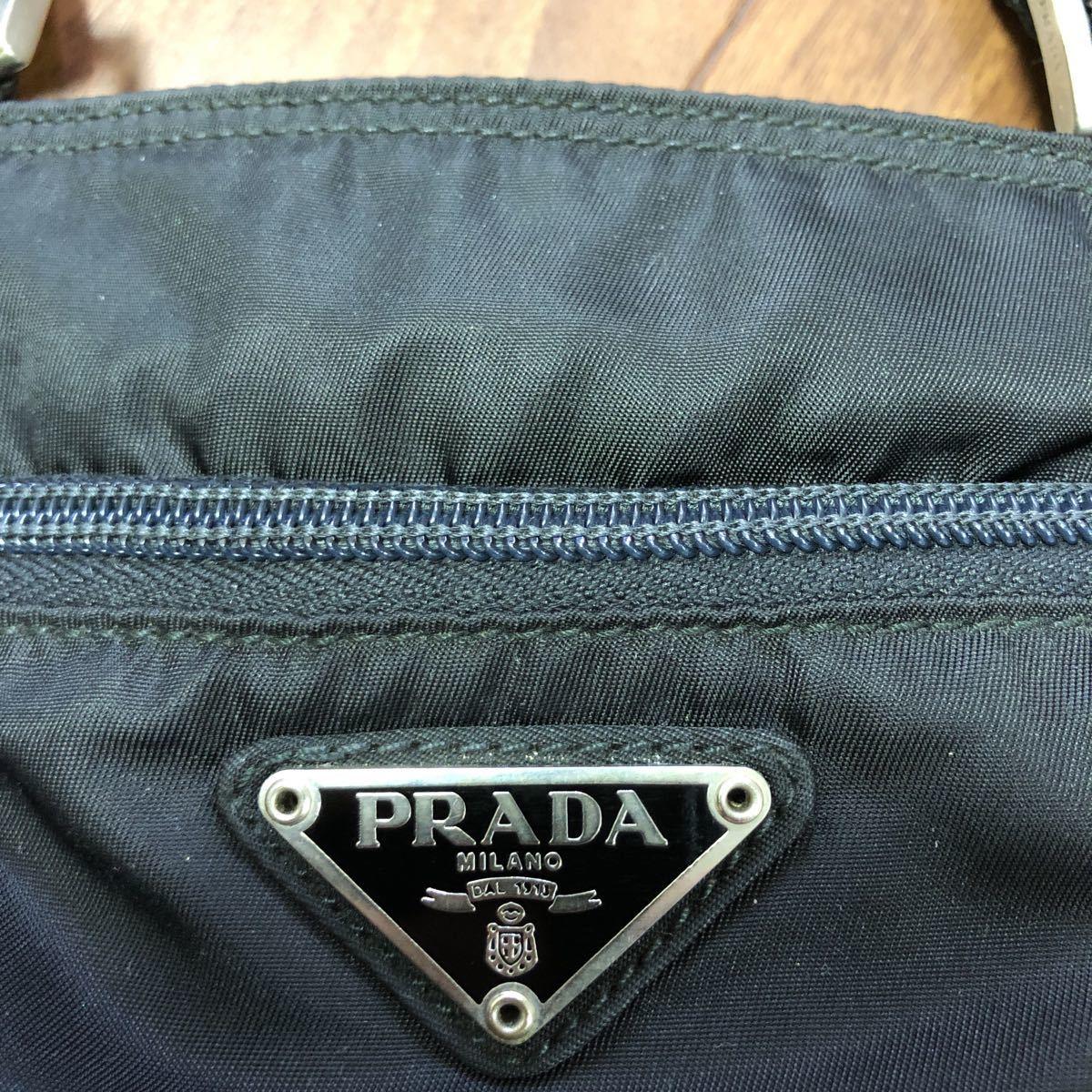 プラダ ナイロン ショルダーバッグ ブラック ITELY製 斜めがけ。_画像7