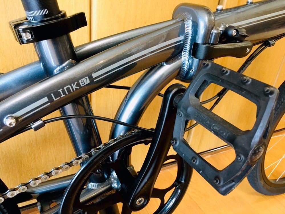 tern ターン リンク b7 カスタム自転車 折り畳み ブルホーン 美品 最終値下げ!_画像6