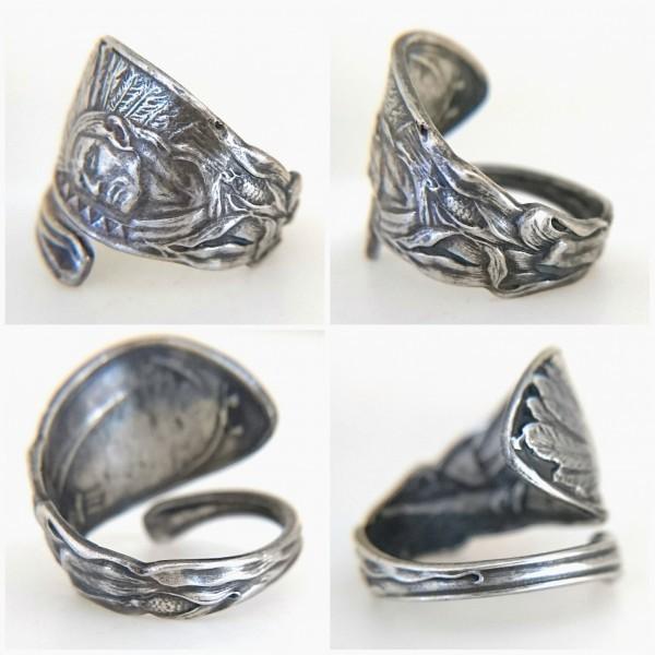 ネイティブアメリカン シルバー製 スーベニア スプーン リング アロー インディアン ジュエリー アジャスタブル 指輪_画像2