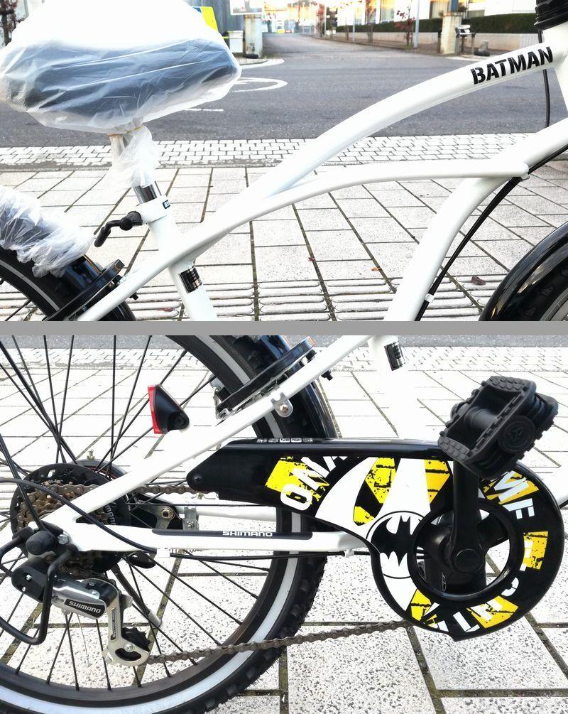 新品未使用★子供CTB自転車★22インチ 黒 BATMAN シマノ6段変速_画像2