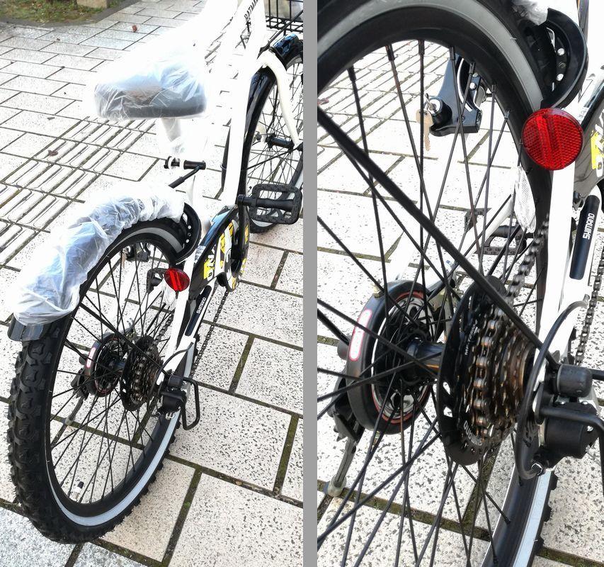 新品未使用★子供CTB自転車★22インチ 黒 BATMAN シマノ6段変速_画像9