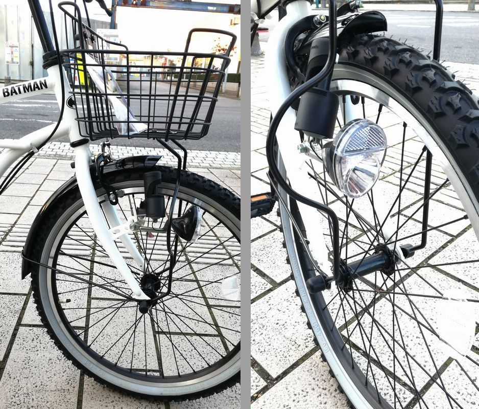 新品未使用★子供CTB自転車★22インチ 黒 BATMAN シマノ6段変速_画像5