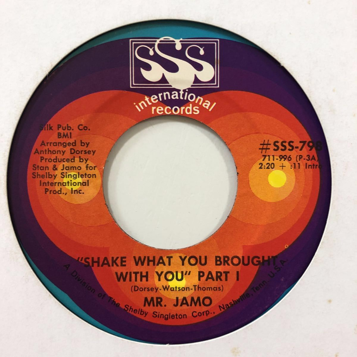 【EPレコード】US盤 オリジナル MR. JAMO / SHAKE WHAT YOU BROUGHT WITH YOU PART Ⅰ Ⅱ FUNK45