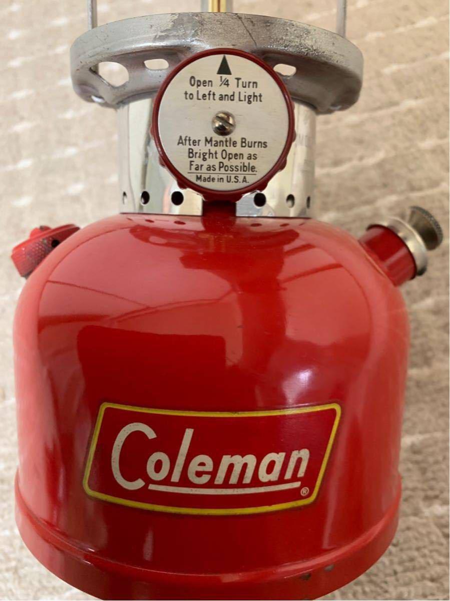 ヴィンテージ コールマン 200A イエローデカール 初期型 58年10月製 当時物オリジナルグローブ 超美品 元箱取説書付 程度良好 整備済_画像4