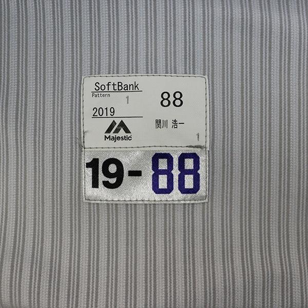 [チャリティ]福岡ソフトバンクホークス 関川コーチ 関西クラッシックユニフォーム上下セット_画像5