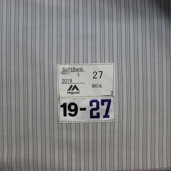 [チャリティ]福岡ソフトバンクホークス グラシアル選手 関西クラッシックユニフォーム上下セット_画像5