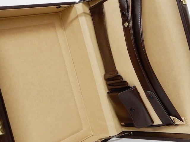 即決★G GUSTO★オールレザートランク メンズ 茶 ブラウン 本革 トラベルバッグ 本皮 アタッシュケース かばん 通勤 カバン 出張 鍵付き 鞄_画像7