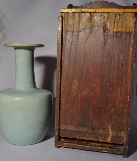 唐物 中国青磁 花瓶 花入 龍泉窯 朝鮮美術 中国古玩 陶磁器
