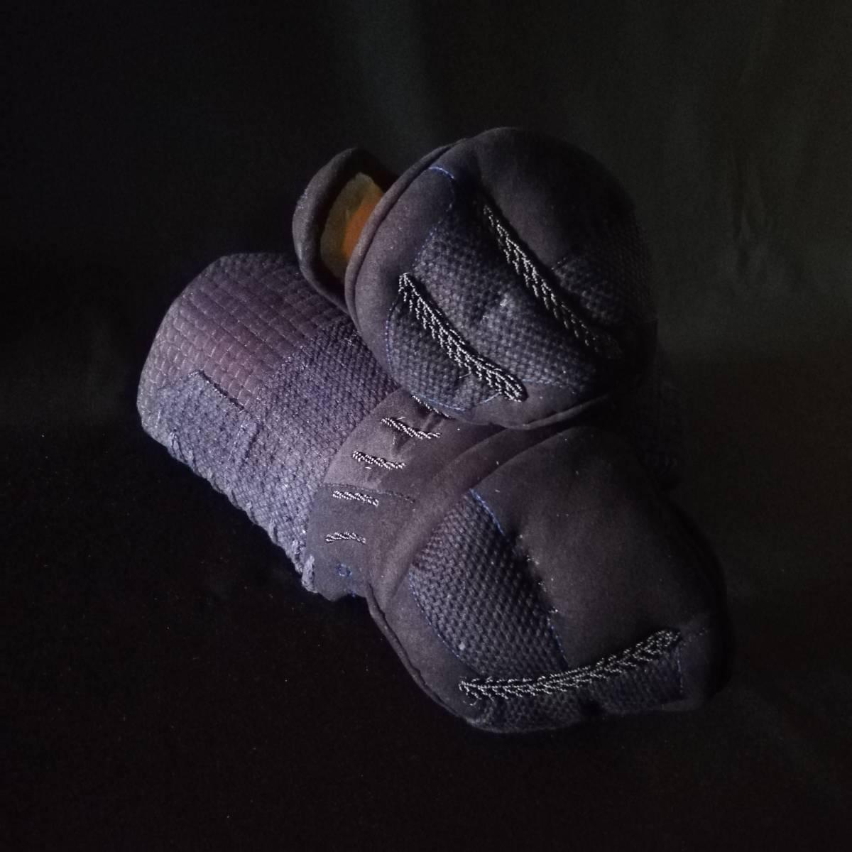 月産限定10セット オーダーメイド織刺2.5分手刺セット 選べる内輪素材 布団の長さ幅もお好みで 子供用可 _右小手頭緩衝材多めもできます