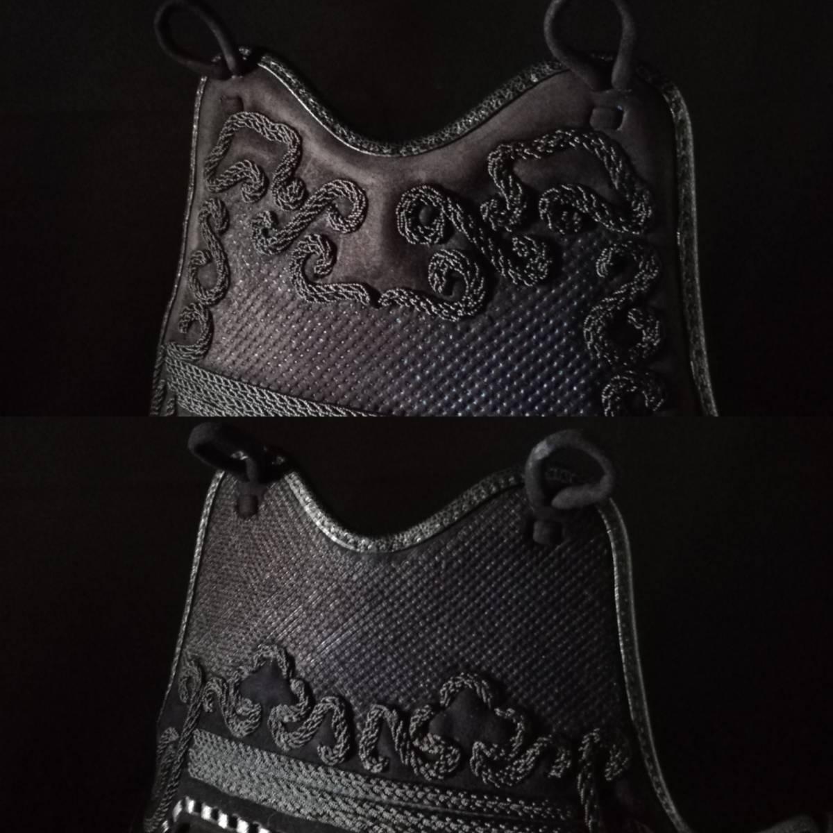 月産限定10セット オーダーメイド織刺2.5分手刺セット 選べる内輪素材 布団の長さ幅もお好みで 子供用可 _紺鹿革胸は16,000円追加となります