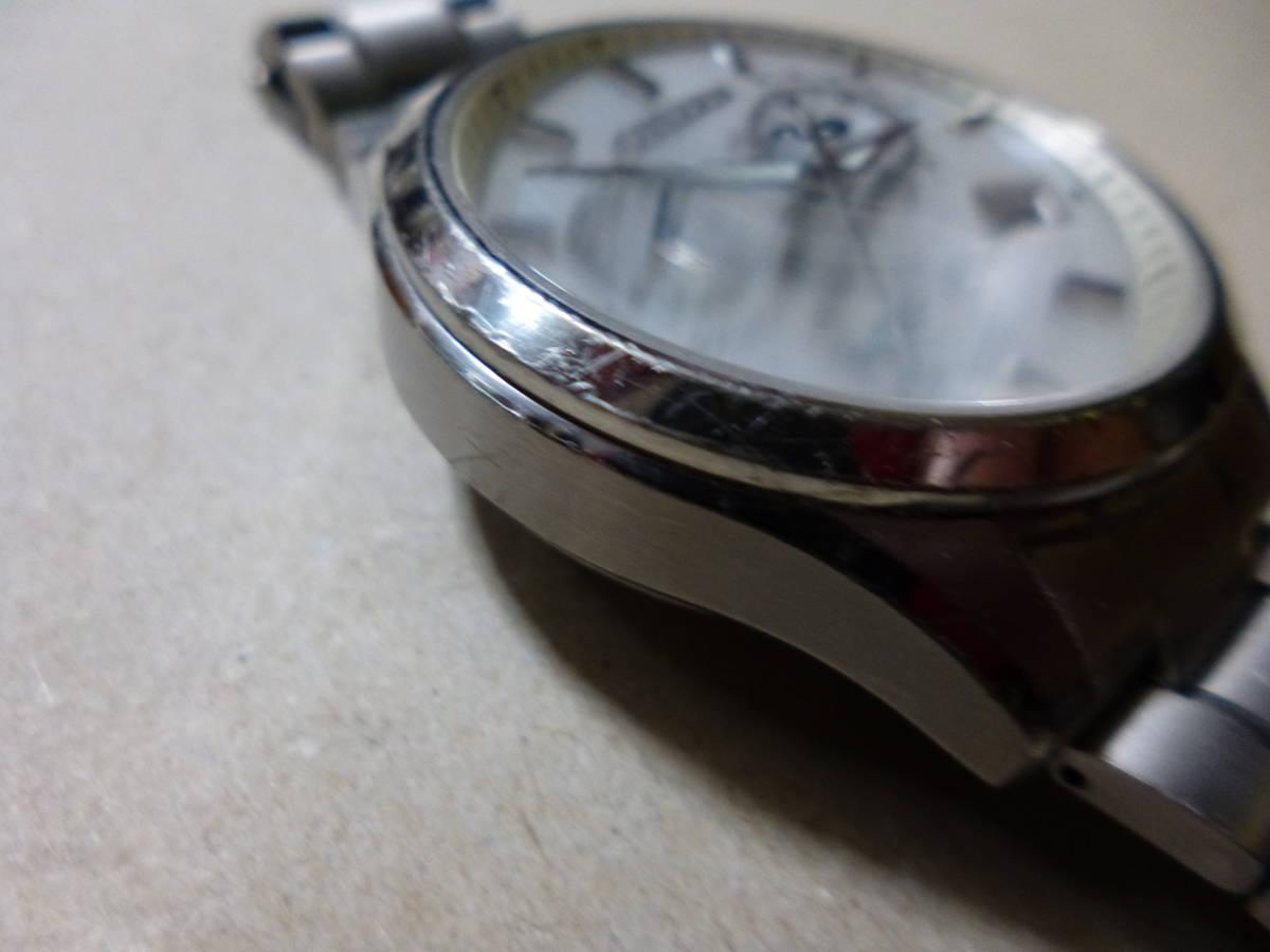 中古【難あり】シチズン エクシード 電波時計 AT3030-58B 定価10万+税_画像6