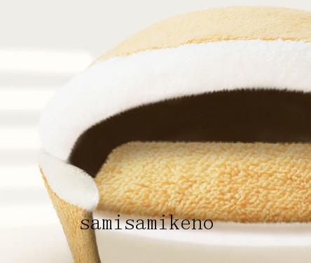 ペット用 ネコハウス 猫のベッド ハンバーグベッド キャットハウス ふわふわ クッション付き 取り外し可能 洗濯可能 四季通用P017_画像3