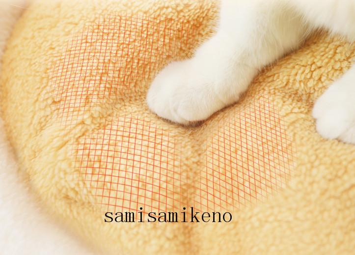 ペット用 ネコハウス 猫のベッド ハンバーグベッド キャットハウス ふわふわ クッション付き 取り外し可能 洗濯可能 四季通用P017_画像7