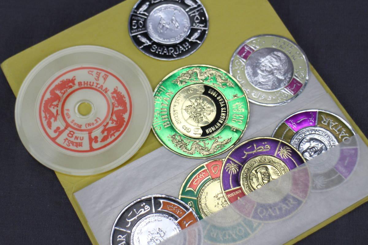 海外切手 未使用 使用済み 大量 まとめて ①/ コレクター放出品 円形 アメリカ イギリス ブータン ハンガリー ダイアナ_画像10