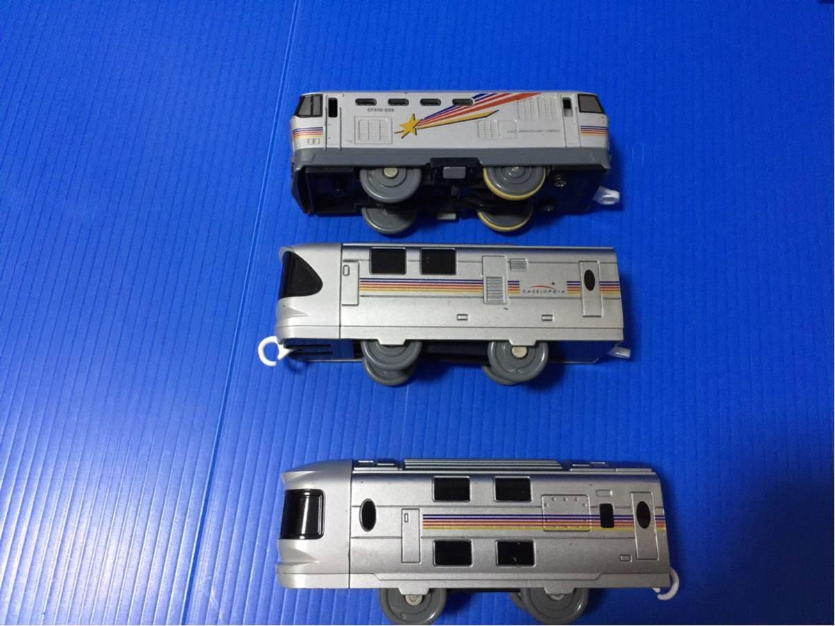 YS074B プラレール 大量 レイアウト 車両 EF510 509 カシオペア_画像5