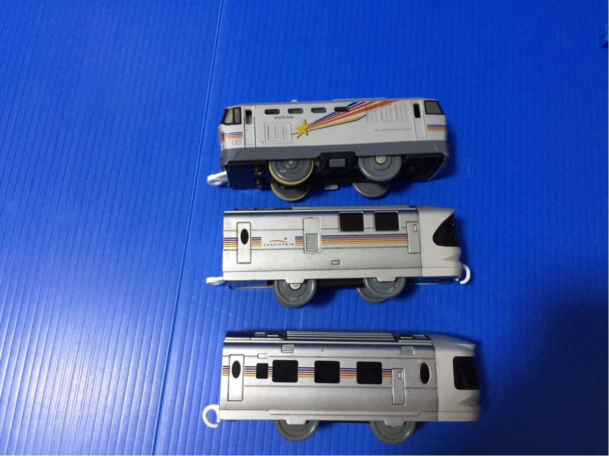 YS074B プラレール 大量 レイアウト 車両 EF510 509 カシオペア_画像6