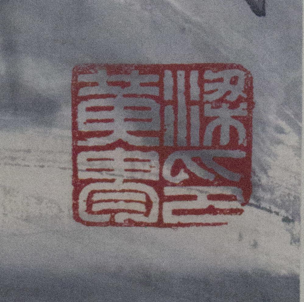 【掛け軸】★極品☆珍品★《黄胄 漁人收網圖》 中国古玩 時代保証 古美術 書畫家 肉筆 紙本_画像9