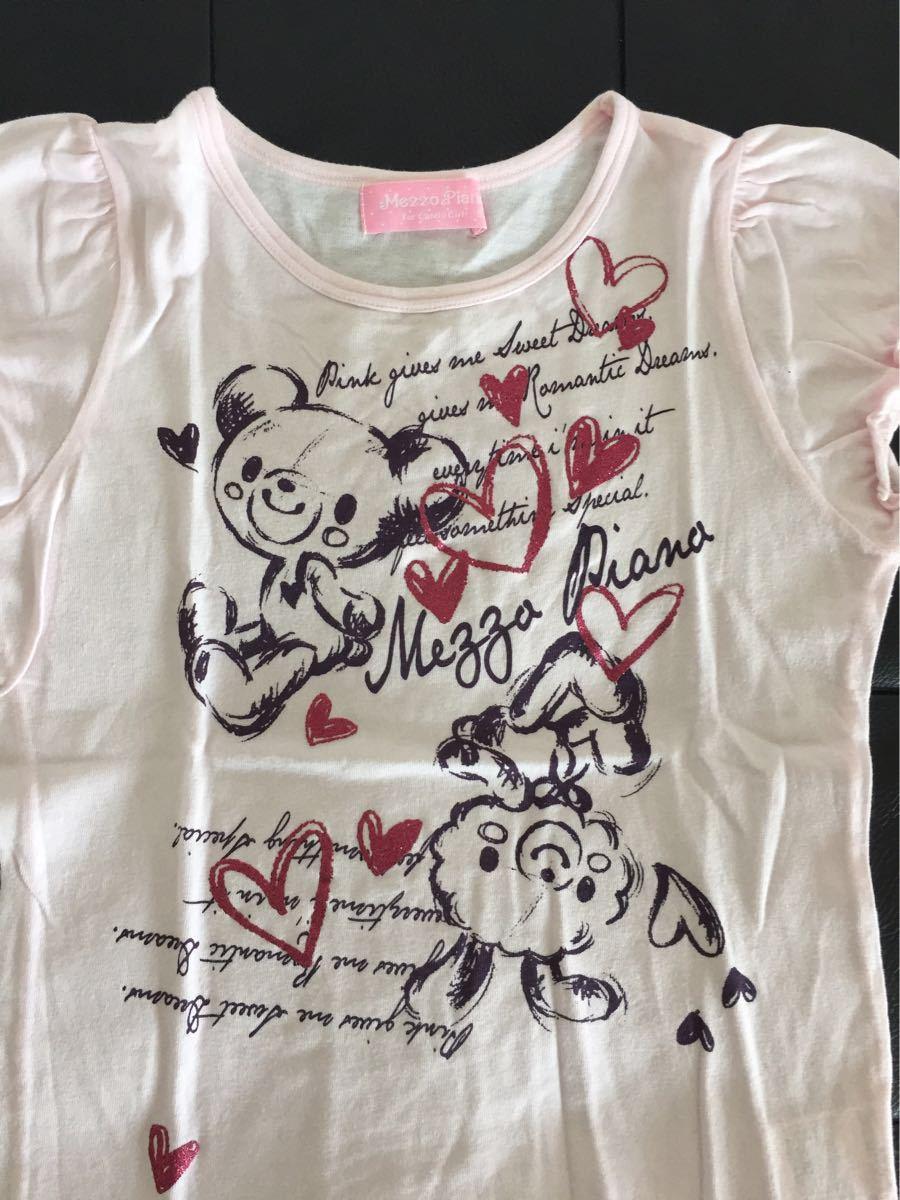 ★メゾピアノ リボン Tシャツ3枚セット★140_画像4