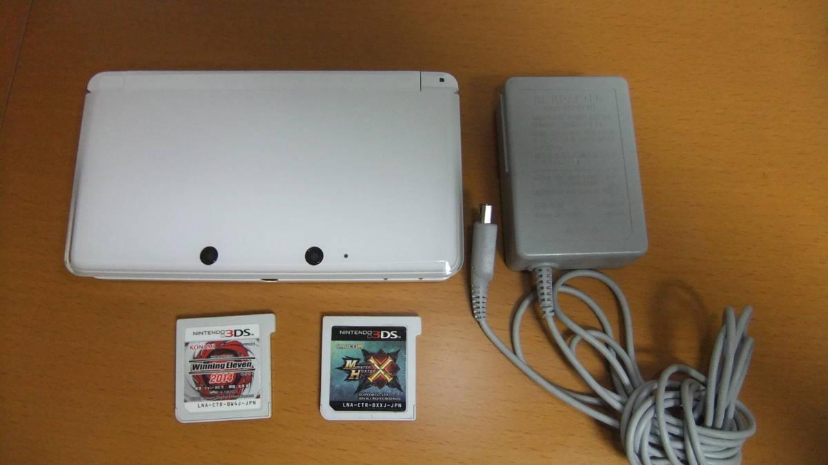 ニンテンドー Nintendo 3DS CTR-S-JPN-CO専用ACアダプタ&ソフト付き_画像1