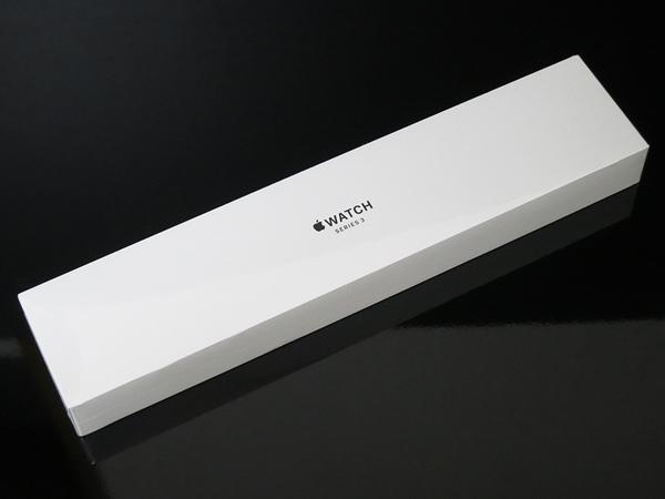 【新品未開封品】Apple Watch Series 3 GPSモデル 38mm スペースグレイアルミニウムケースとブラックスポーツバンド MTF02J/A 送料無料