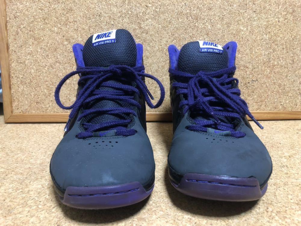 ナイキ Nike AIR VISI PRO3 パープル×ブラック×グレー 27cm USED_画像2
