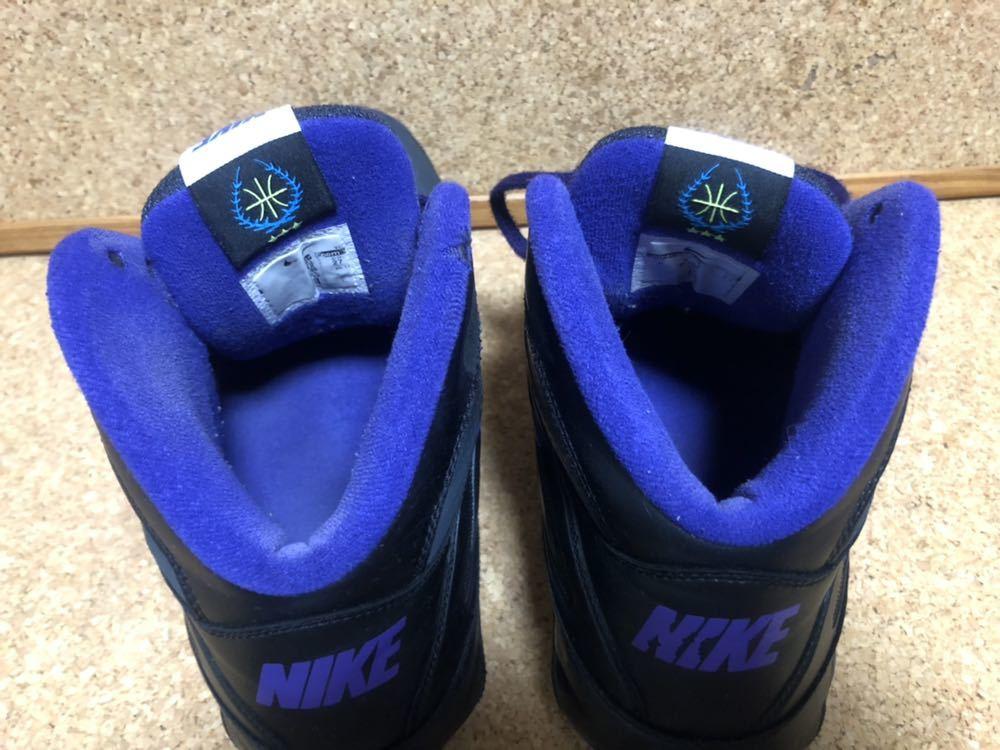 ナイキ Nike AIR VISI PRO3 パープル×ブラック×グレー 27cm USED_画像10