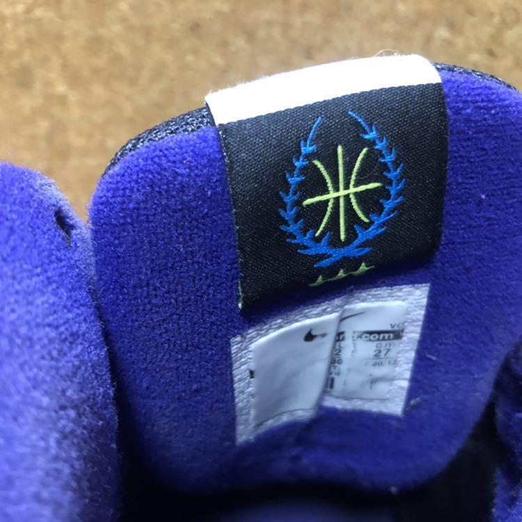 ナイキ Nike AIR VISI PRO3 パープル×ブラック×グレー 27cm USED_画像9