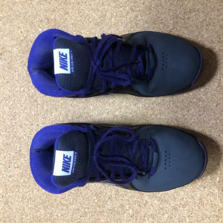 ナイキ Nike AIR VISI PRO3 パープル×ブラック×グレー 27cm USED_画像5