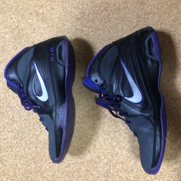 ナイキ Nike AIR VISI PRO3 パープル×ブラック×グレー 27cm USED_画像6