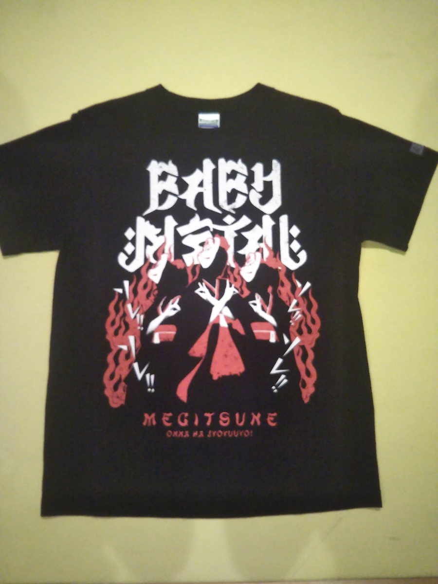 [Lower closing price again] initial valuable!Small size!2013 BABYMETAL megitune T-shirt official Baby Metal gimicochoijime Fox heavy sound department TEE Fox