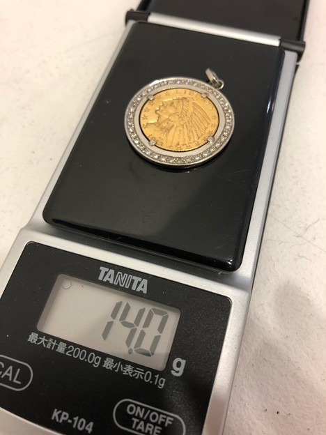 ★外国金貨ペンダントトップ!!その14★純金金無垢18金