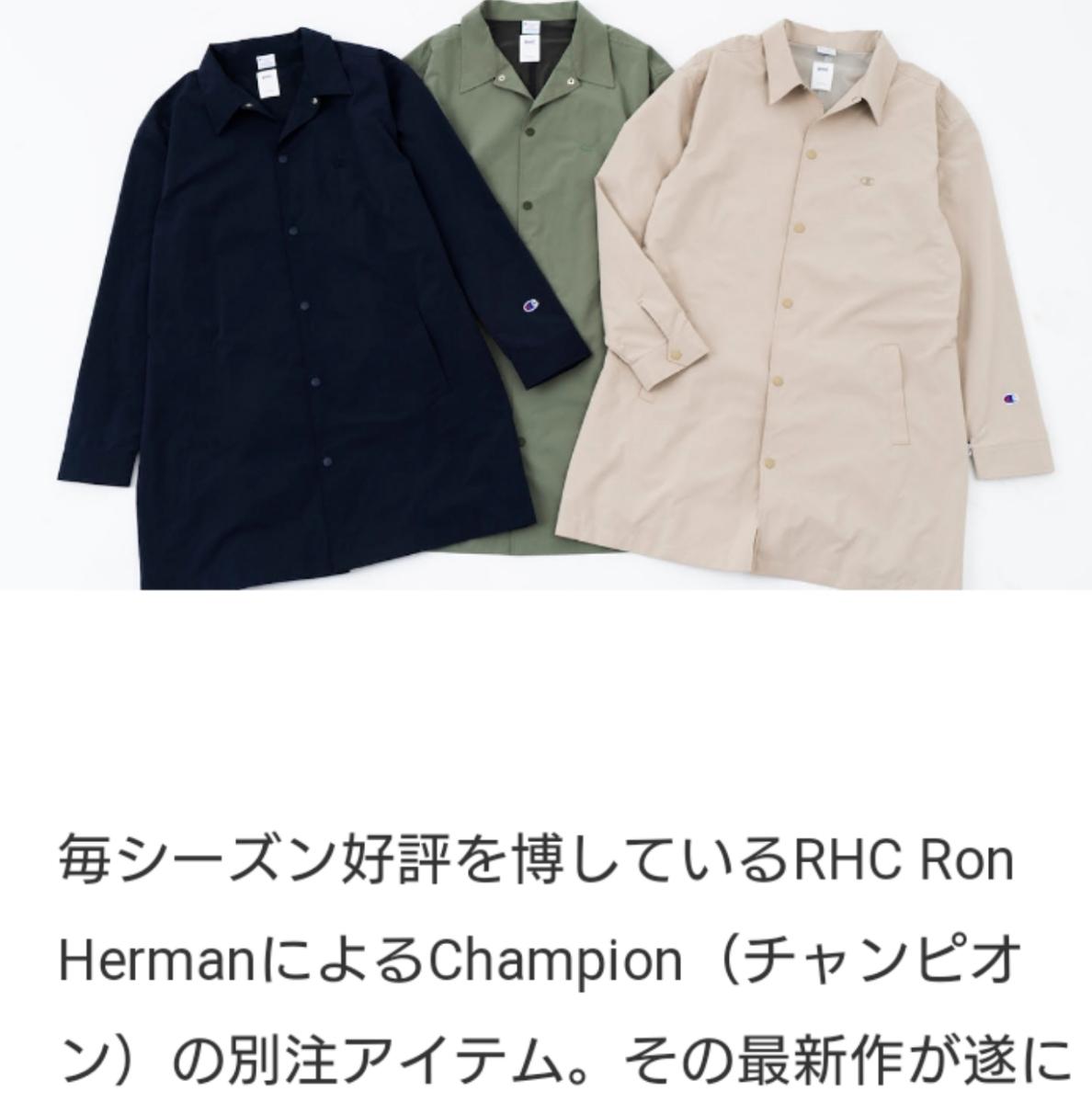 新作19SS新品 RHCロンハーマン別注 Champion RHC Ron Herman x チャンピオン コート ジャケット 国内正規店品 ベージュ_画像1