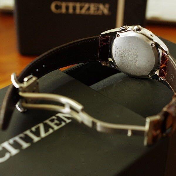 CITIZEN ◇ EXCEED 美品 エコドライブ 電波 ◇ デュラテクト EAG74-2692_画像5