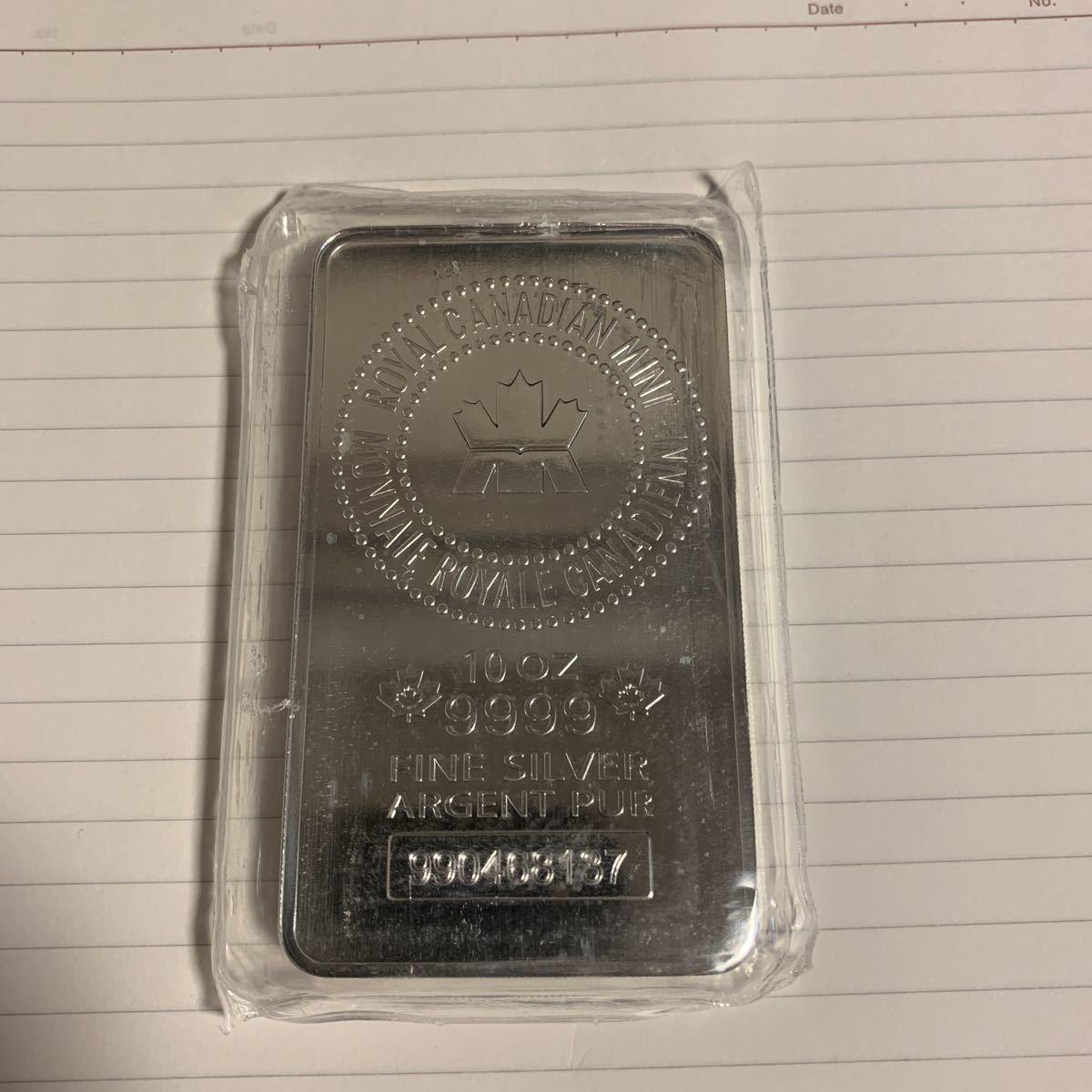 10オンス 新品 Royal Canadian Mint シルバーバー 純銀 999 銀貨 本物 送料無料