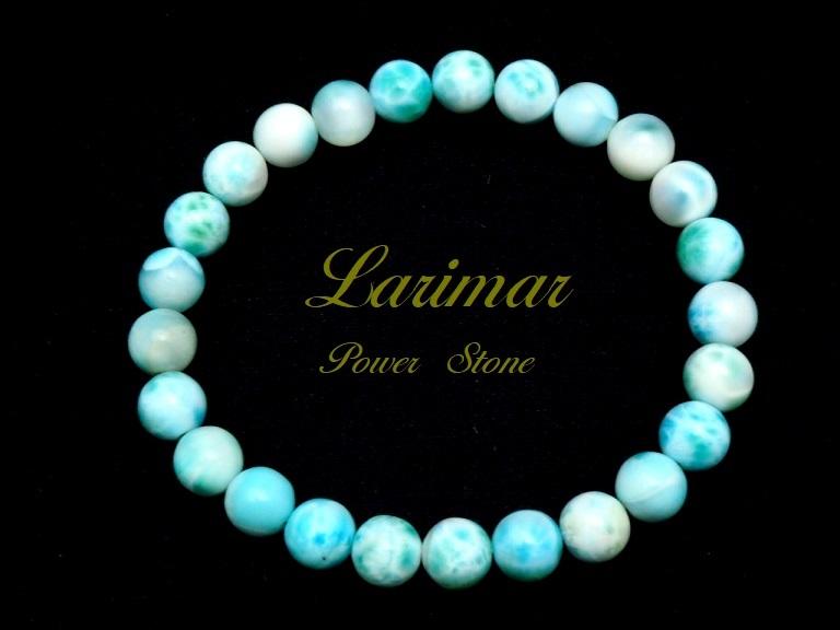【新品】極上高級天然宝石 ラリマー ドミニカ共和国産 ブレス 8mm ブルー・ペクトライト パワーストーン larimar メンズ 愛と平和 A2