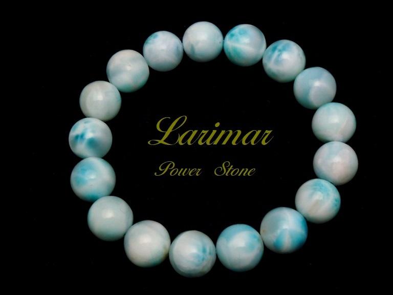 【新品】極上高級天然宝石 ラリマー ドミニカ共和国産 ブレス 12mm ブルー・ペクトライト パワーストーン larimar メンズ 愛と平和 B2