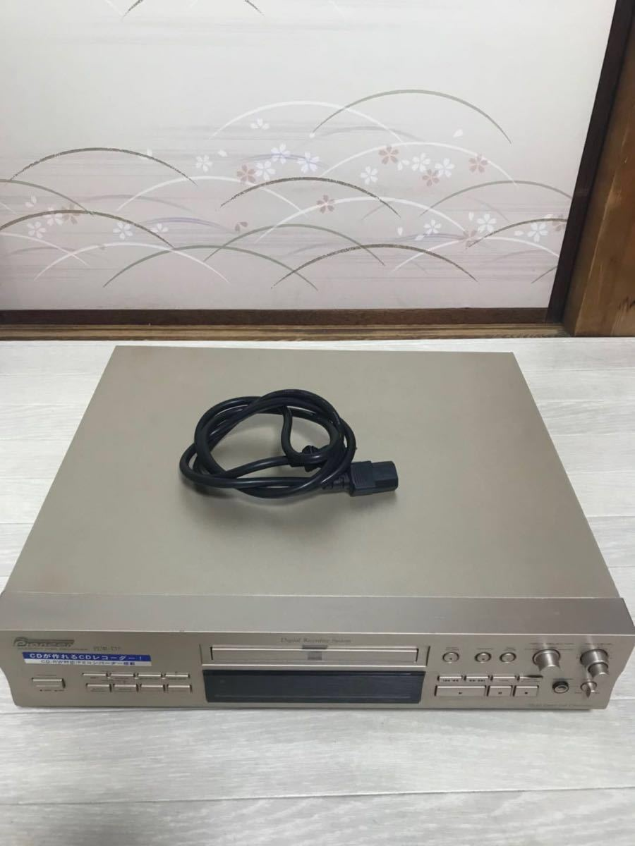 通電のみ確認済【Pioneer/パイオニア】CDレコーダー PDR-D7 ジャンク品_画像10