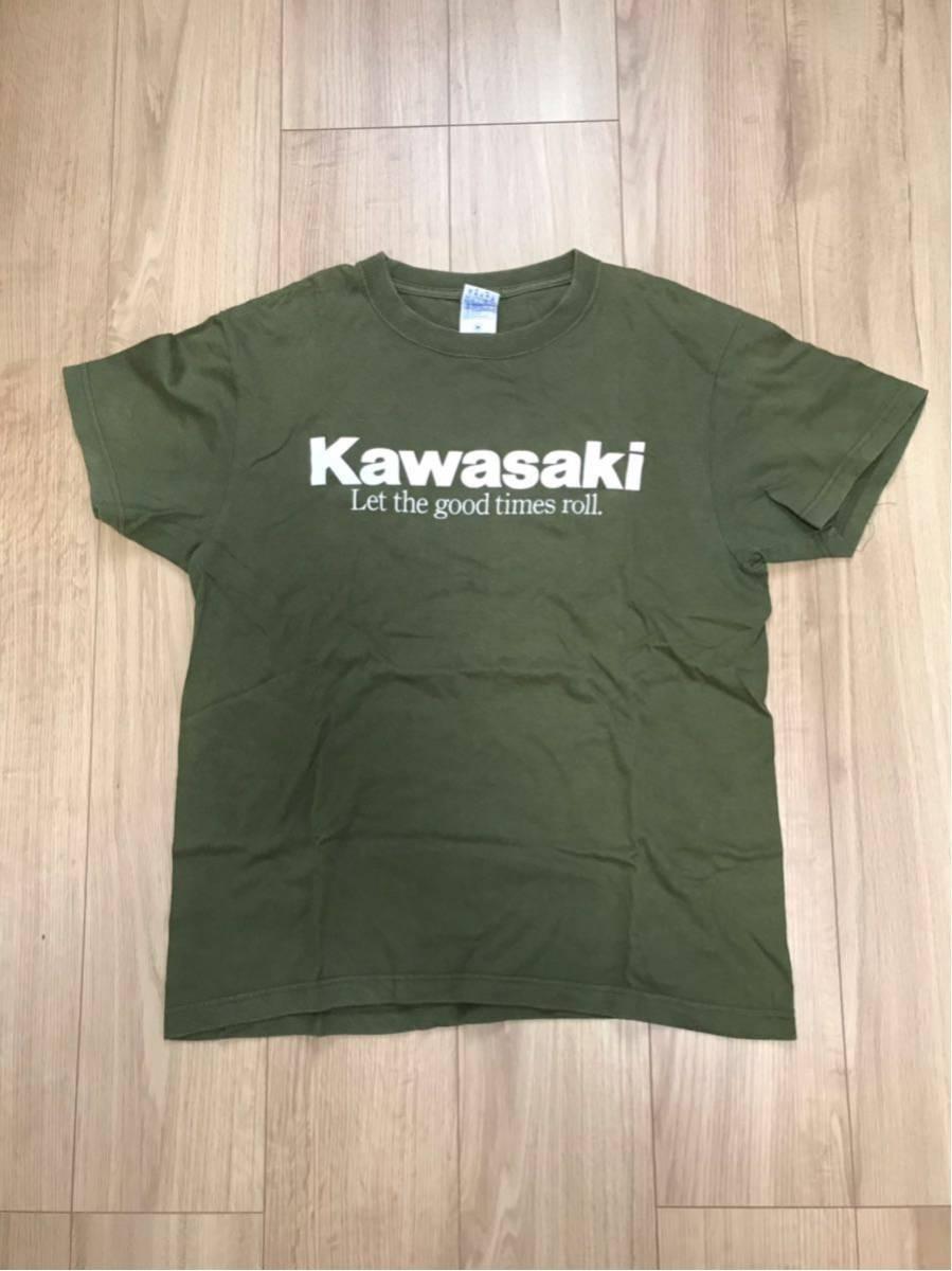 カワサキ 川崎重工 Tシャツ M カワサキコーヒーブレイクミーティング
