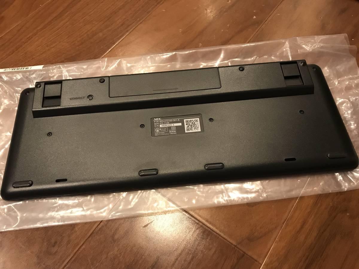 未使用品 NEC ワイヤレスキーボード KG-1129 ブラック_画像2