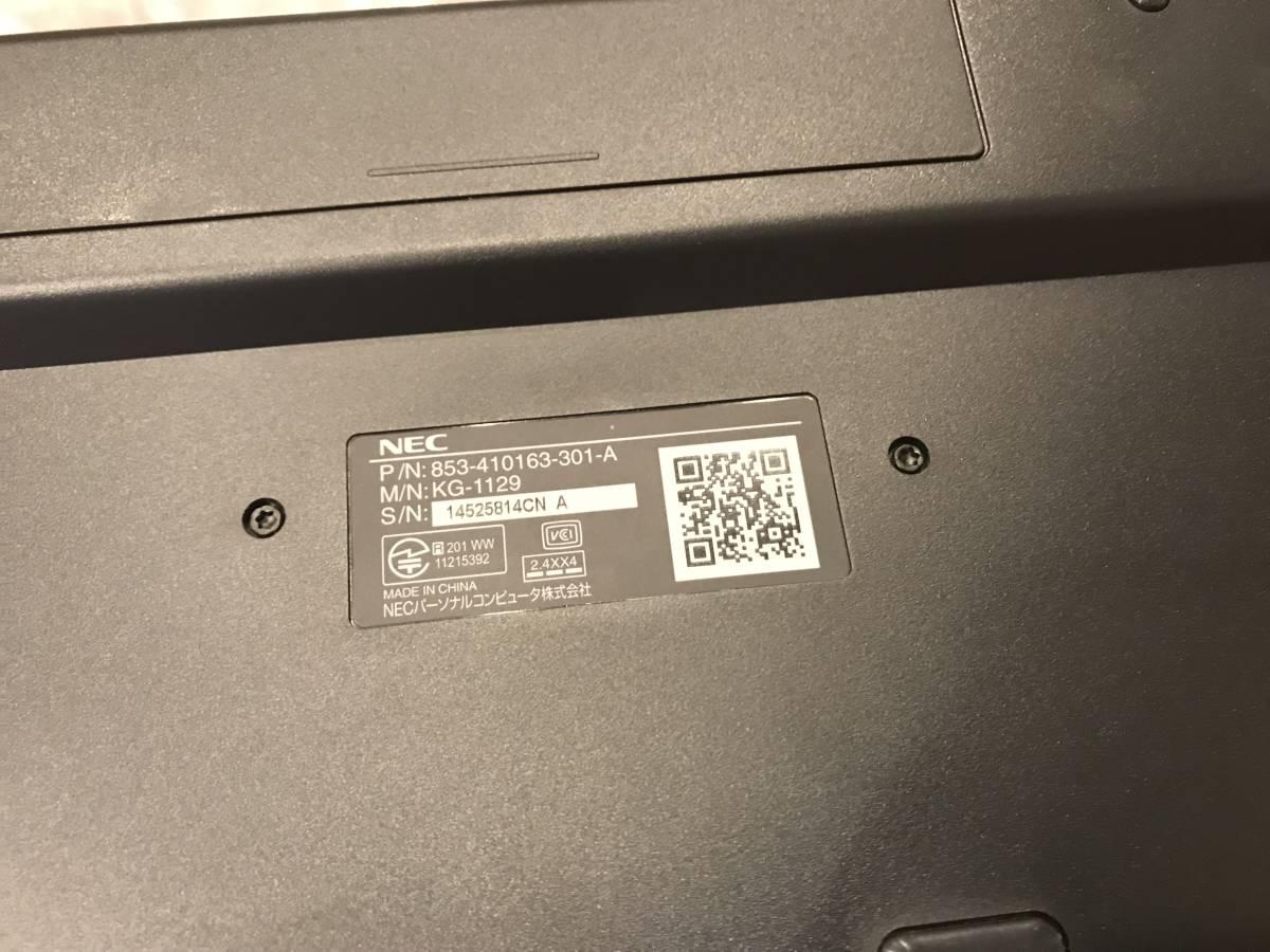 未使用品 NEC ワイヤレスキーボード KG-1129 ブラック_画像3