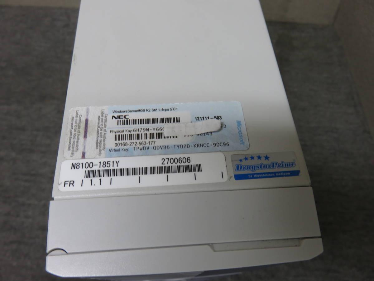 静音サーバ Xeon E3-1220 / 8GB / HDD 1000GB ★ NEC Express 5800 ★ Windows Server 2012 R2★Office付★値下げ。即決_画像8