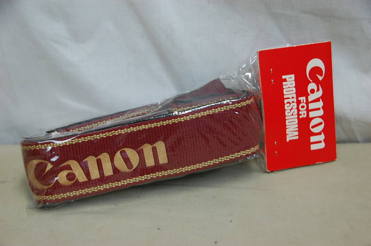 !#//貴重!! Canon for PROFESSIONAL VERSION カメラストラップ プロストラップ キャノン プロフェッショナル 未使用 未開封品