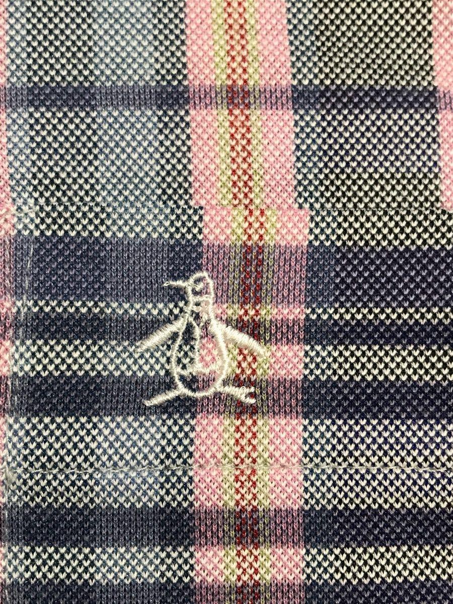 Munsingwear wear Munsingwear [ hole equipped ] polo-shirt with short sleeves men's L size Golf wear - check