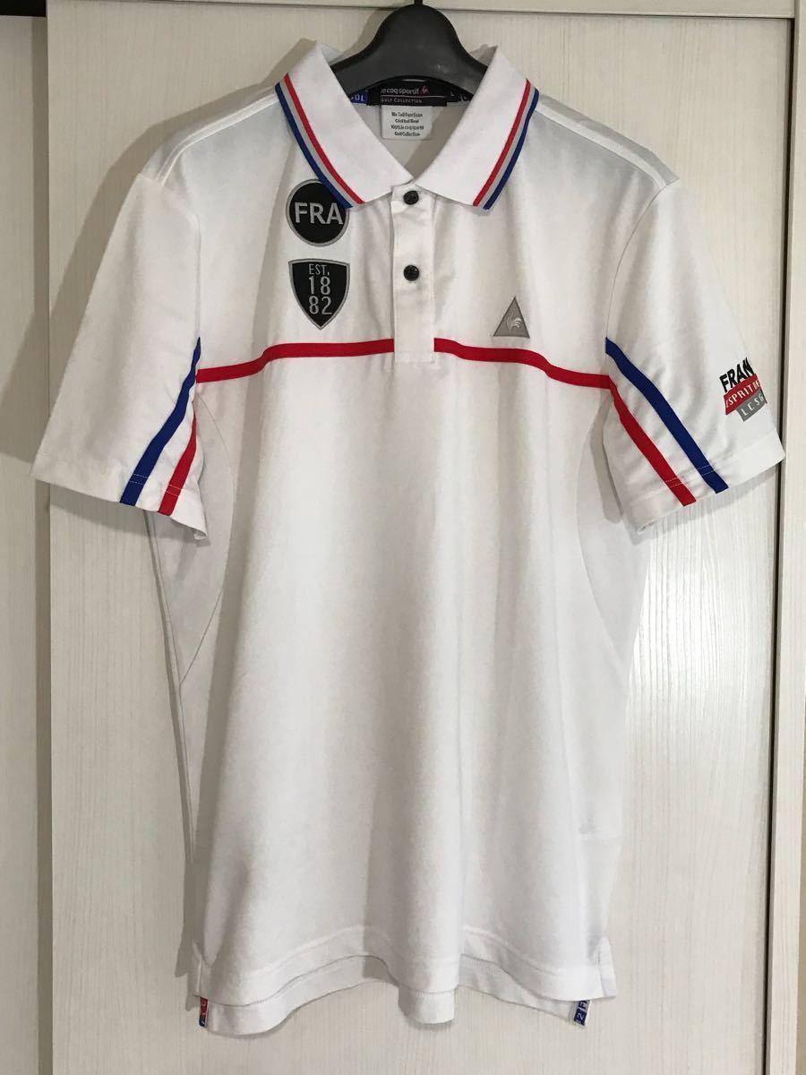 Le Coq le coq sportif Le Coq s Porte .f Golf wear - men's polo-shirt with short sleeves L size dirt equipped sport wear -