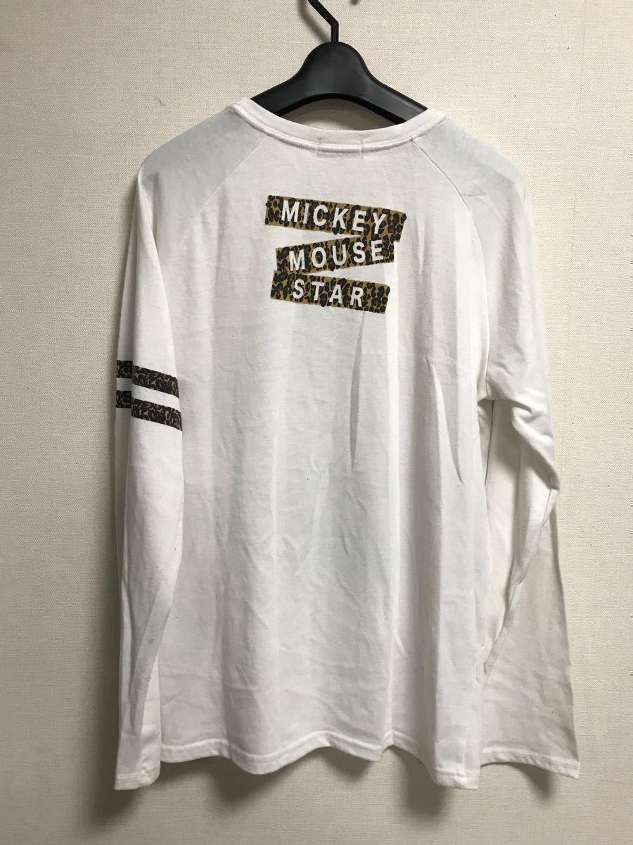 Mickey Mouse Mickey Mouse Disney disney long sleeve shirt leopard print leopard print England L size bo Robot ro