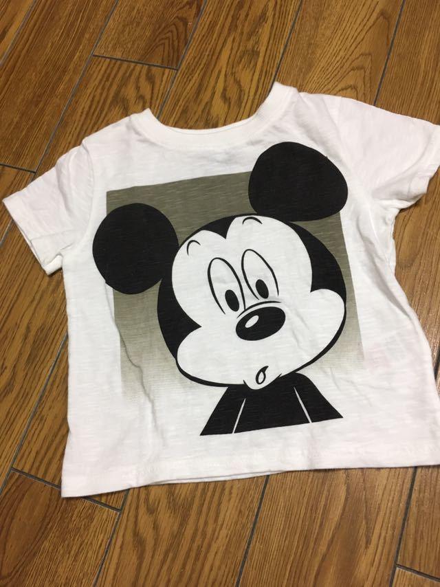 美品 ミッキーマウス※サイズ24~36ヶ月 98cm Rebel Tシャツ 綿100%