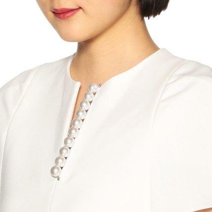 新品タグ付 YOKO CHAN ヨーコチャン パール ワンピース 40 ホワイト_画像5