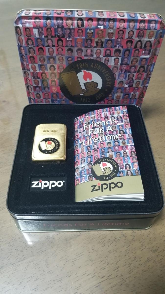 新品 激レア ジッポーオイルライター ZIPPO 限定品 4バレルレプリカ 金色 70thアニバーサリー 2002年