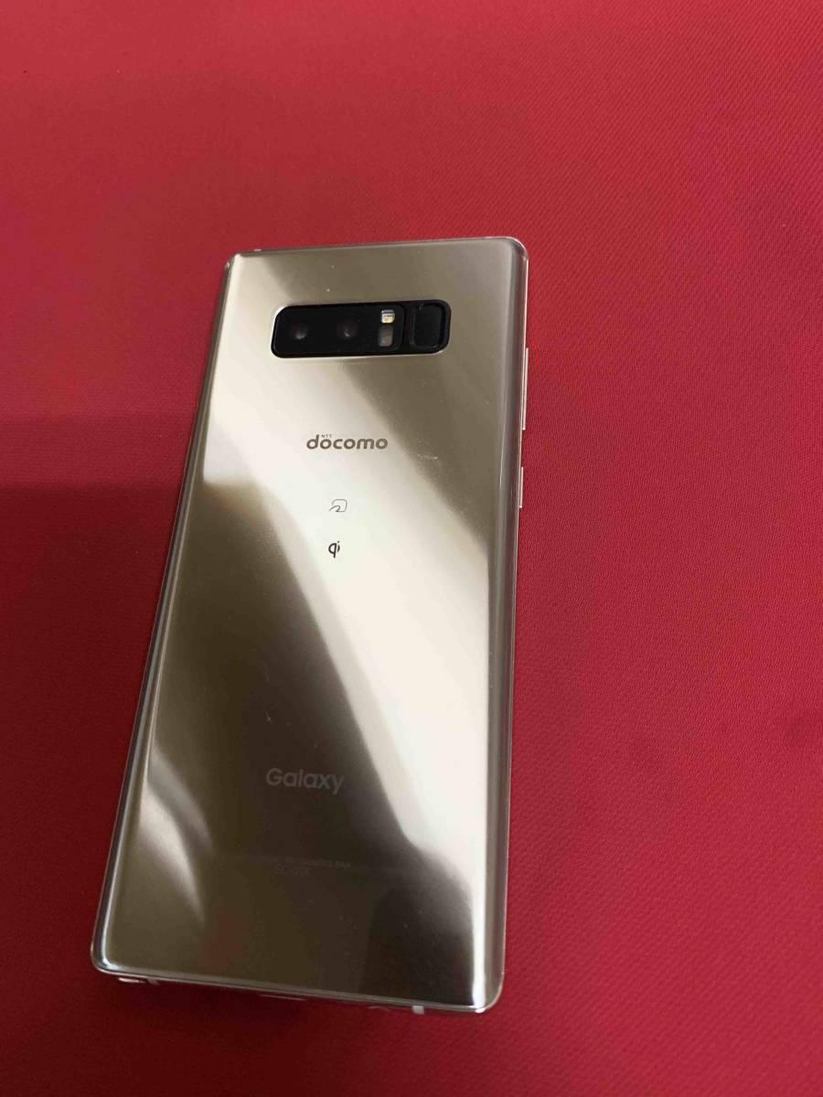 美品 おまけ付き SIMロック解除済 Galaxy Note8 SC-01K ゴールド_画像3