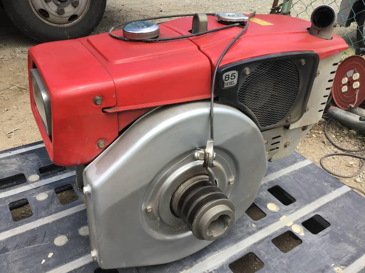 三菱 ディーゼルエンジン NM85 8,5馬力 動作良好 ディーゼル発動機 中古動作品_画像2